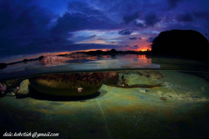 after the storm....sand stone bottom..clear water by Dale Kobetich