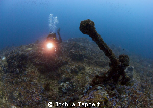 Old Spanish Anchor Located at the end of the Canyons, in... by Joshua Tappert