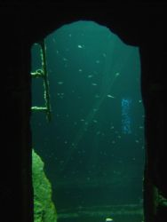Looking through doorway into 01 Deck 3 Cargo Bay SS Thist... by Harvey Page