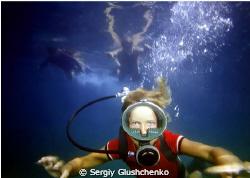 Children diving in 1980... by Sergiy Glushchenko