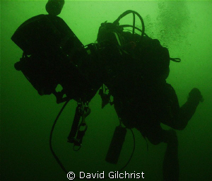 Test Dive-Diver tests handheld navigation equipment in th... by David Gilchrist