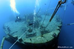 Thistlegorm's bow taken with natural light. by Dan Ashkenasi