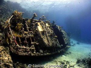 Wreck at small abu gallawa. by Jackie Campbell