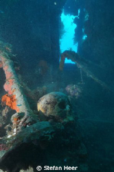 Skull in a wreck in Truk Lagoon! RIP Cam: Nikon D90 Housi... by Stefan Heer