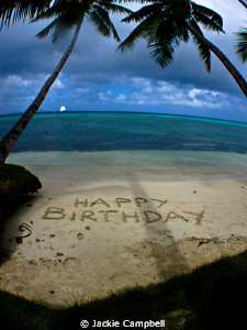 Message in the sand :) by Jackie Campbell