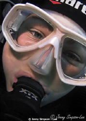My friend from Manta Diving in Lanzarote - Sea & Sea 800g... by Jonny Simpson - Lee