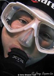 My friend from Manta Diving in Lanzarote - Sea & Sea 800g... by Jonny Simpson - Lee