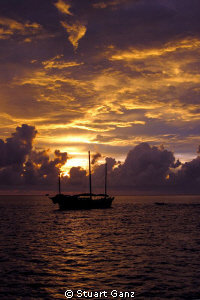 Sunset in the Similan Islands by Stuart Ganz