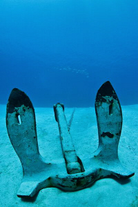 Anchor of the USS Kittiwake by Paul Colley