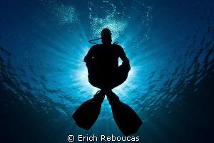 The Zen diver by Erich Reboucas