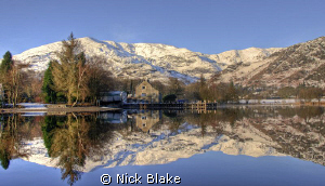 Lake Coniston taken from the John Ruskin launch on a cris... by Nick Blake