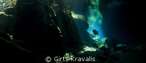 Chack-Mool cenote. by Girts Kravalis