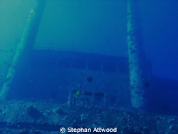 Giannis D wreck - bridge, late afternoon, natural light by Stephan Attwood
