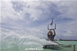 Alex kitesurfing by Petra Kuzev