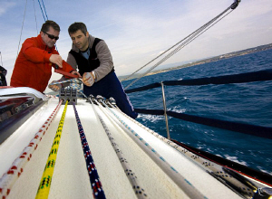 Training session on a racing sail-yacht - way too many ro... by Rico Besserdich