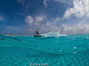 Amazing photoshooting with a kitesurfer at Klein Curacao,... by Dave Benz