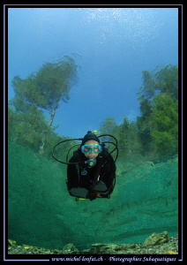 "Diving the ""Fernsteinsee"" in Austria... Que du bonheur...... by Michel Lonfat"