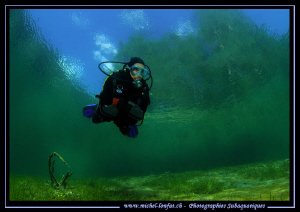 Diving the Fernsteinsee... Que du bonheur... :O)... by Michel Lonfat