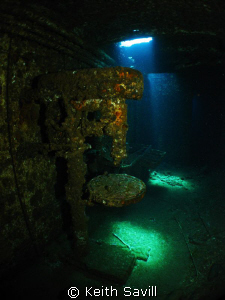 Tool Room and Lathe of the Chrisoula K wreck. Canon Ixus,... by Keith Savill