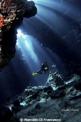 The Cave Dangerous Reef, Red Sea by Marcello Di Francesco