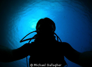 Self portrait silhouette in Djibouti - just having a bit ... by Michael Gallagher