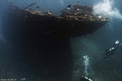 "This is a famous wreck ""Kingston"" in Shag rock reef. It i... by Stratos Koufos"