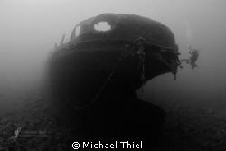 HMS Hellespont in the Mediterranean (Malta). Steamer, bui... by Michael Thiel