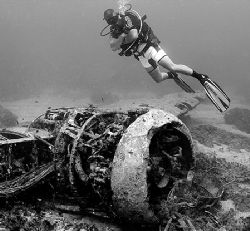 WWII Blenheim Bomber engine, Malta by James Dally