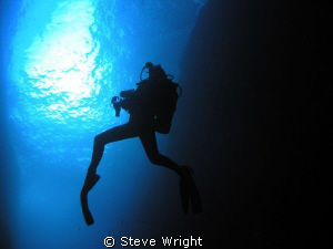 shot taken at Lord Howe Island of dive buddy, Tanya Behr. by Steve Wright