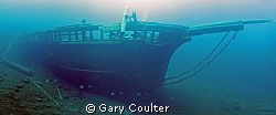 Starboard side of the Arabia in Tobermory, Canada. This ... by Gary Coulter