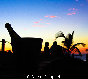 An afternoon dive.....some wine and a lovely sunset.....N... by Jackie Campbell