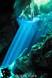Cenote light refraction, Mexico by Nick Blake