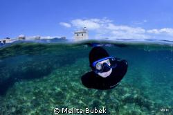 My son Robi swimming nearby island Brijuni...NikonD90, To... by Melita Bubek