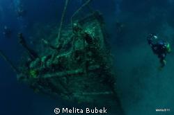 Wreck Lina, island Cres, Croatia...Nikond90, Tokina 10-17mm by Melita Bubek