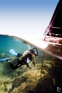 Rebreather Diver on his way back home ;-) by Rico Besserdich
