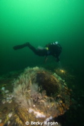 diver on S-5 sub off of New Jersey by Becky Kagan