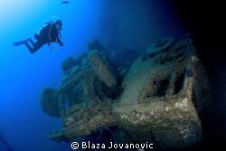 Diving on Zenobia by Blaza Jovanovic