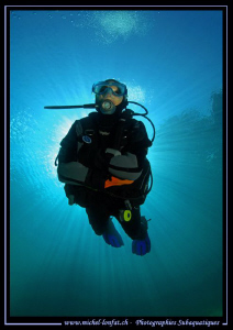 Diving the Fernsteinsee.... :O)... by Michel Lonfat