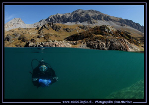 High Altitude lake diving... :O)... by Michel Lonfat