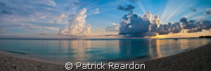 Sunset panorama on our last day of diving. by Patrick Reardon