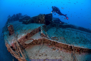 German WWII ship wreck. 42 meters deep. by Vittorio Durante