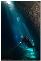 """-Spotlight- This photo I made in a cave called """"Himmelsl... by Reinhard Arndt"""