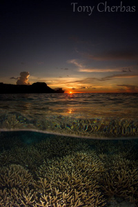 Sunset. Tumon Bay, Guam by Tony Cherbas