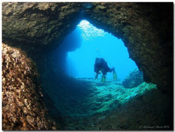 Cave at the Westcoast of Corfu Island by Reinhard Arndt