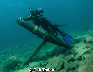 ANCHOR AND DIVER by Rick Thibert