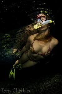 Night Snorkel by Tony Cherbas