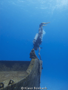 Titanik NOT, sunken ship in Cozumel by Klaus Bosbach