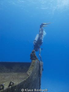 Titanik NOT, sunken ship in Cozumel by Klaus Bosbach