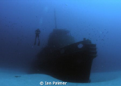 Rozi tug boat. Artificial reef off of Cirkewwa on the nor... by Ian Palmer