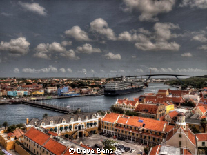 Willemstad, Curacao. View from the top of the Plaza Hotel. by Dave Benz